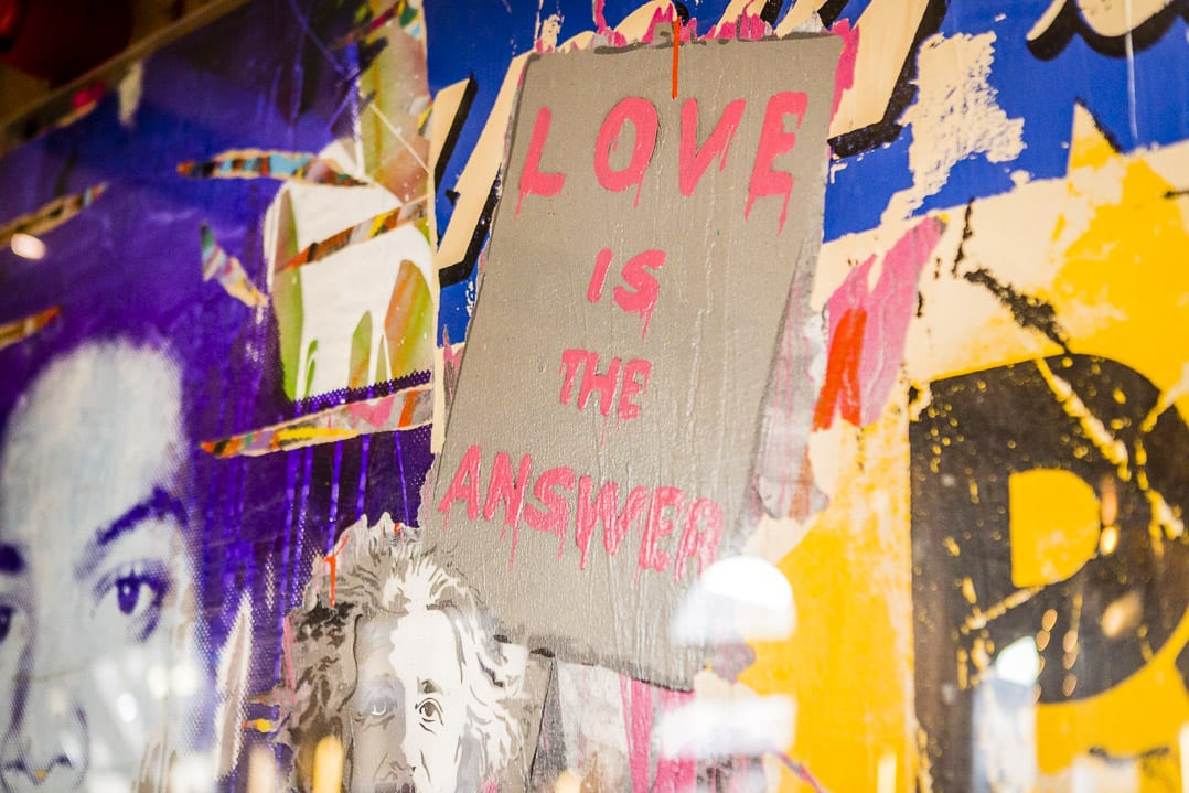Graffiti that's says Love Is the Answer